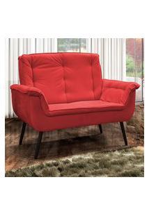 Poltrona Decorativa Matrix Mônica 00603.2377 2 Lugares Vermelha
