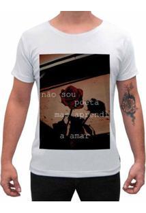 Camiseta Impermanence Estampada Amor Masculina - Masculino-Branco
