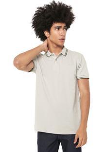 Camisa Polo Colcci Reta Listras Bege