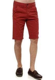Bermuda Jeans Masculina Bordô