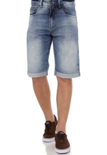 Bermuda Jeans Masculina Cook'S Azul
