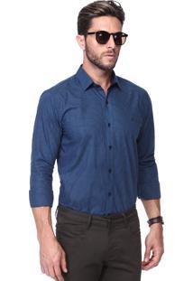 Camisa King&Joe Xadrez Azul