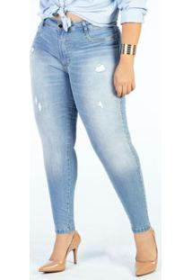 Calça Jeans Clara Cigarrete Plus Size Sawary