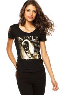 Blusa Fiveblu Style Preta