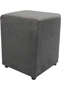 Puff Cubo Quadrado Box Decorativo Suede (34X34X45Cm) - Cinza - Cinza - Dafiti