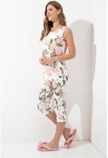 Pijama Capre Acuo Marmelo Feminino - Feminino-Branco