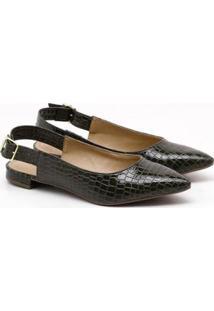 Sapatilha Charlote Shoes Croco Ii - Feminino-Verde Escuro