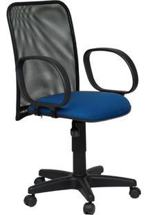 Cadeira Diretor Tela Giratória Corsa Tecido Azul