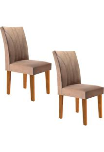 Conjunto Com 2 Cadeiras Moscou Ypê E Pena