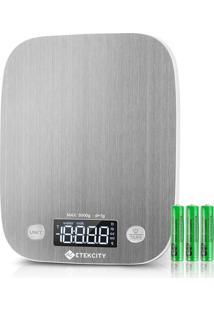 Balança Etekcity Digital De Cozinha Em Aço Inoxidável Com Capacidade Até 5000G Prata