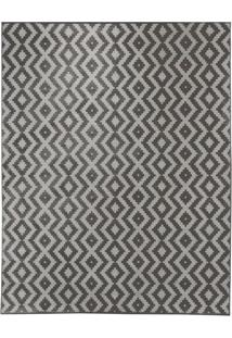 Tapete Ambiance Retangular Poliéster (200X250) Cinza