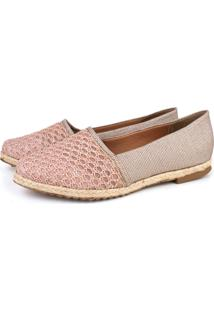 Alpargata Trivalle Shoes Croche Rose/Metalico
