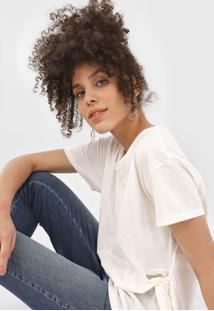 Blusa Bobstore Amarração Laço Off-White - Kanui