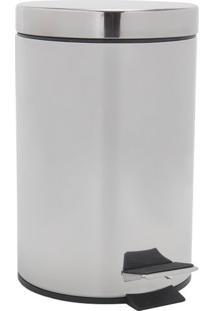 Lixeira Le Shine Inox Prata 3L 16,8X26Cm 11051-015