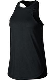 Regata Nike Dry Studio Tank Feminina - Feminino-Cinza+Preto