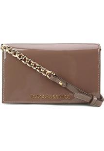 Bolsa Loucos & Santos Mini Bag Verniz Soft Feminina - Feminino-Marrom