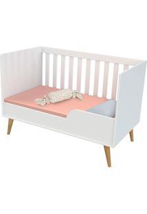 Dormitorio Ludmila Guarda Roupa 3 Portas Cômoda Fraldário Berço Branco/Bétula Carolina Baby