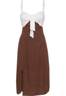 Vestido Teresa - Marrom