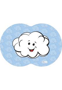 Tapete Pet Mdecore Geométrico Nuvem Azul 54X39Cm