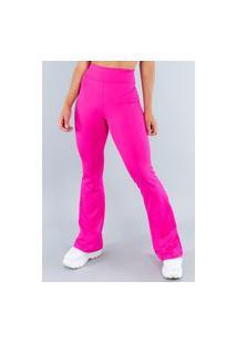 Calça Feminina Mvb Modas Flare Pantalona Suplex Rosa