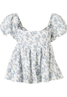 Brock Collection Blusa Com Estampa Floral - Branco