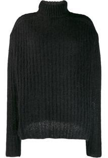 Marni Suéter Canelado - Preto