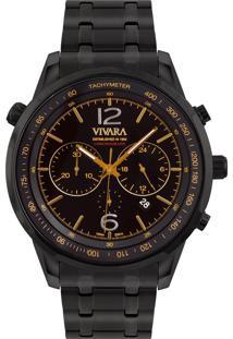 Relógio Vivara Masculino Aço Preto - Ds13737R0B-1