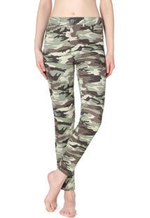Jeans Push-Up Estampa Camuflado - Verde