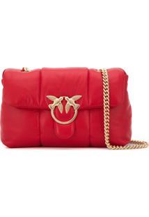 Pinko Bolsa Tiracolo Com Placa De Logo - Vermelho