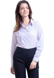 Camisa 101 Resort Wear Tricoline Listras Vermelho Branco