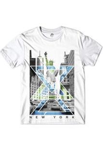 Camiseta Bsc Nova Iorque Capital De Tudo Masculina - Masculino-Branco