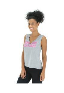 340bc9ec14 Camiseta Regata Oxer Harder - Feminina - Cinza Rosa