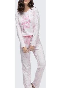 Pijama Espaço Pijama Feminino - Feminino-Rosa Claro