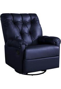Poltrona Reclinável Corino Gran Comfort Azul Petróleo