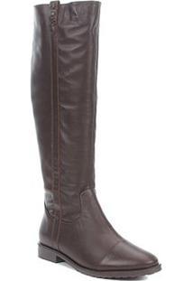 Bota Montaria Shoestock Detalhe Trançado Feminina