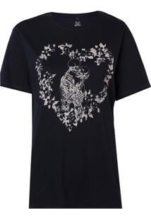 Camiseta John John Skull Romance Masculina (Preto, Gg)