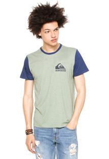 Camiseta Quiksilver Jungle Fore Verde/Azul