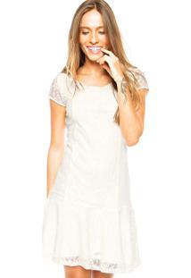 Vestido Malwee Renda Off-White