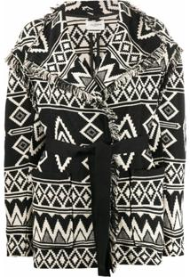 Isabel Marant Étoile Abstract Pattern Cardi-Coat - Branco