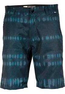 Bermuda Tecido Wg Hibrida Dye Masculina - Masculino-Azul