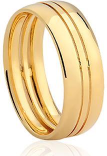 Aliança Noivo Ouro Amarelo