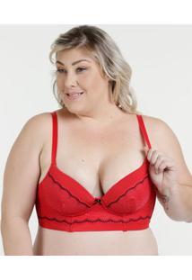 4bb7173c8b0 Marisa. Sutiã Feminino Top Corpete Renda Plus Size Demillus