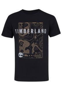 Camiseta Timberland Singature Maps - Masculina - Preto