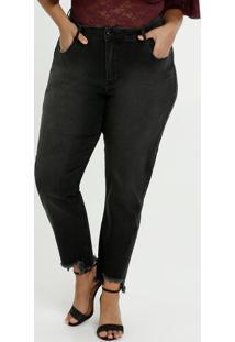 Calça Feminina Jeans Strass Cigarrete Plus Size Marisa
