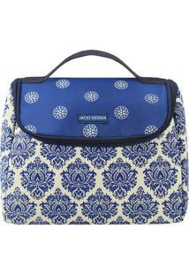 Bolsa Térmica- Branca & Azul Escuro- 18X23X16Cm-Jacki Design