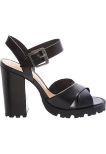 Sandália Block Heel Tratorada Black | Schutz