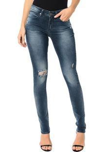 Calça Calvin Klein Jeans 5 Pockets Super Skinny Marinho - 34