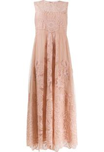 Red Valentino Floral Embroidered Dress - Rosa