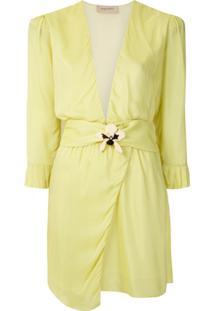Adriana Degreas Vestido Curto Com Aplicação - Amarelo