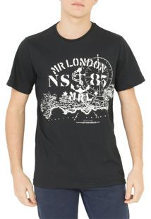 Camiseta Mr. London Nautica Preta